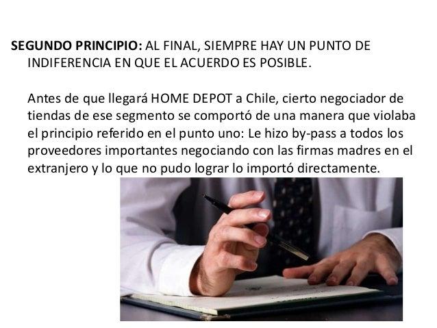 SEGUNDO PRINCIPIO: AL FINAL, SIEMPRE HAY UN PUNTO DE INDIFERENCIA EN QUE EL ACUERDO ES POSIBLE. Antes de que llegará HOME ...