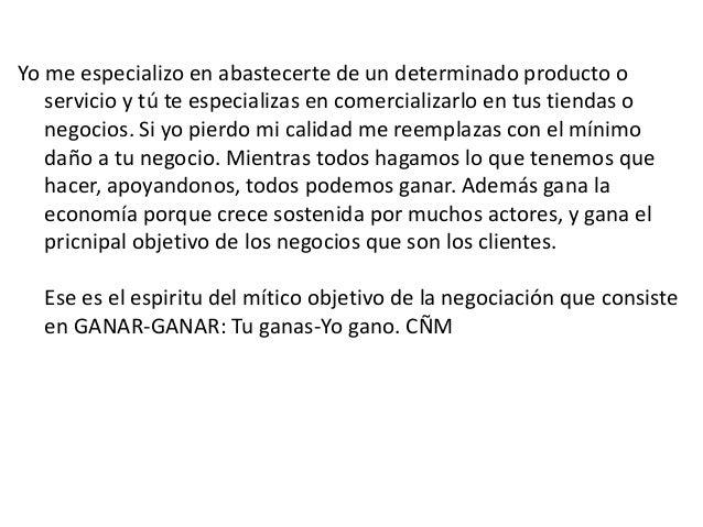 Yo me especializo en abastecerte de un determinado producto o servicio y tú te especializas en comercializarlo en tus tien...