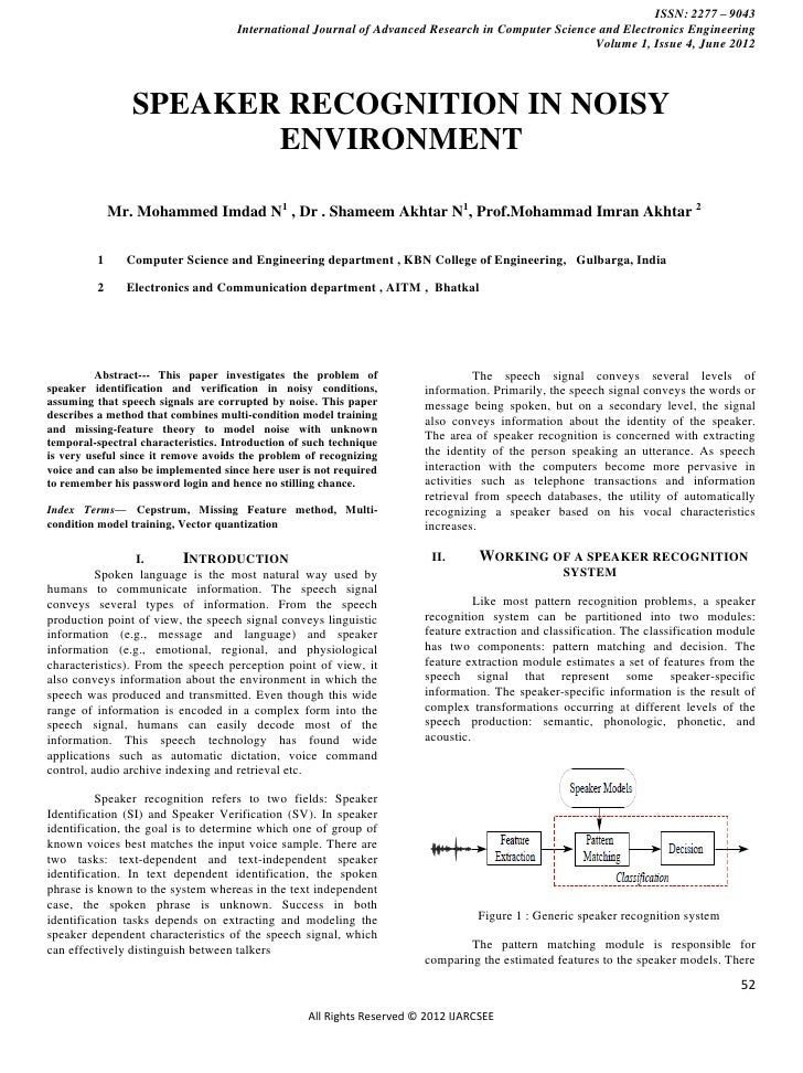 ISSN: 2277 – 9043                                     International Journal of Advanced Research in Computer Science and E...