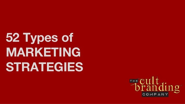 52 Types of MARKETING STRATEGIES