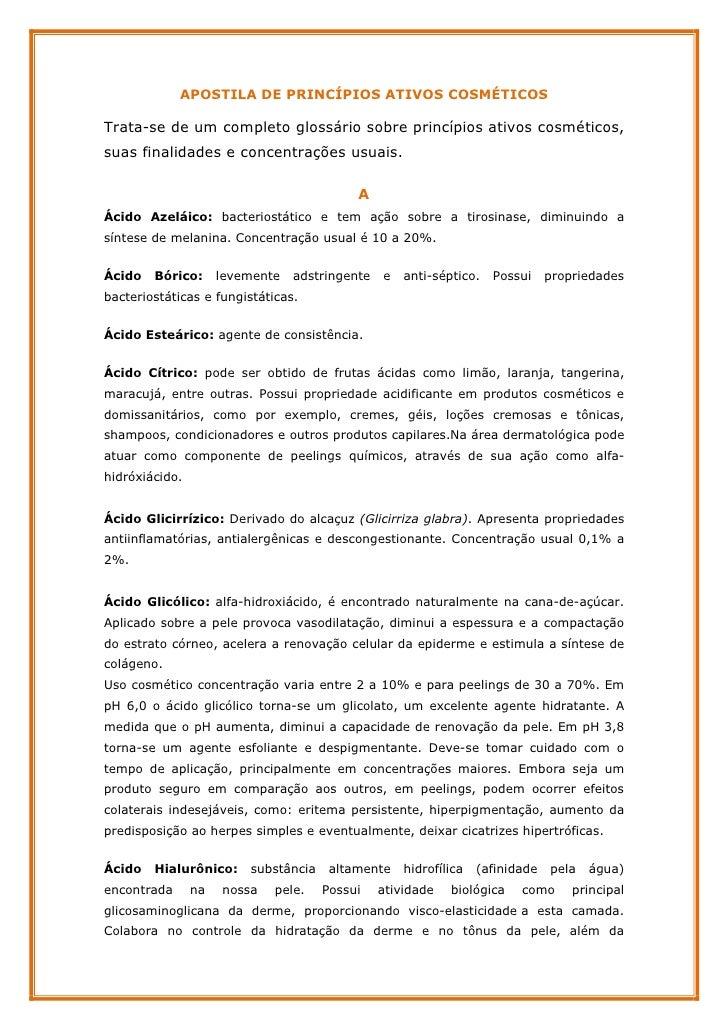 52015300 50021884-apostila-de-princpios-ativos-cosmticos Slide 2