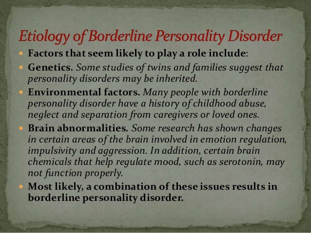 Research paper borderline personality disorder
