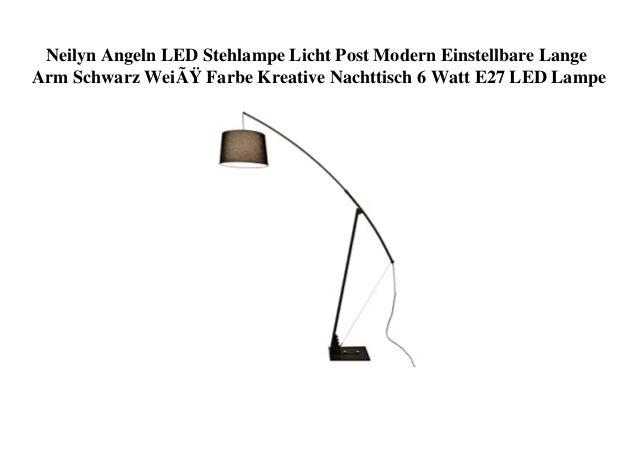 Neilyn Angeln LED Stehlampe Licht Post Modern Einstellbare Lange Arm Schwarz Weiß Farbe Kreative Nachttisch 6 Watt E27 LE...