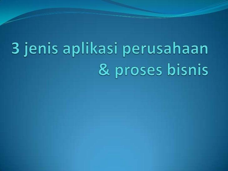 Agenda 3 jenis aplikasi perusahaan dan proses bisnisnya   1.   SISTEM INFORMASI AKADEMIK BERBASIS WEB ITS   2.   NEO READ...