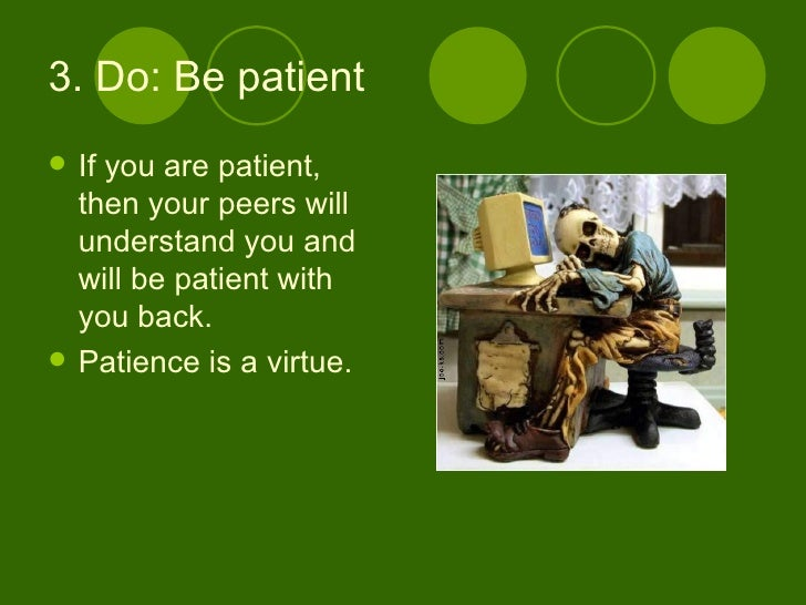 Patience is a virtue essay