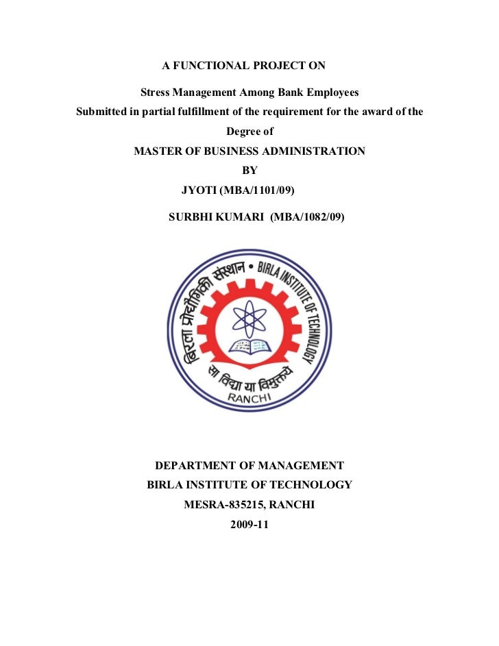 52171371 stress-management-among-bank-employees-project-report
