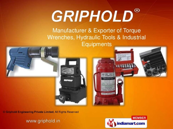 Manufacturer & Exporter of TorqueWrenches, Hydraulic Tools & Industrial           Equipments