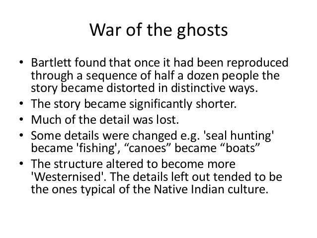 bartlett 1932 war of the ghosts study pdf