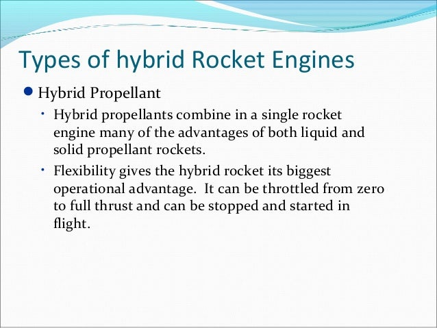 rocket propellent ppt