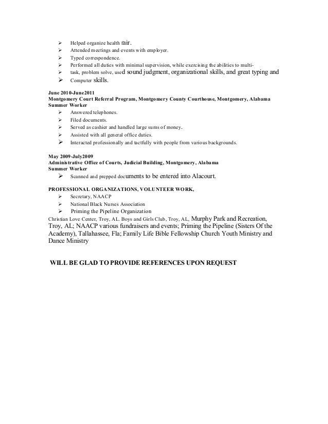 Resume attended meetings