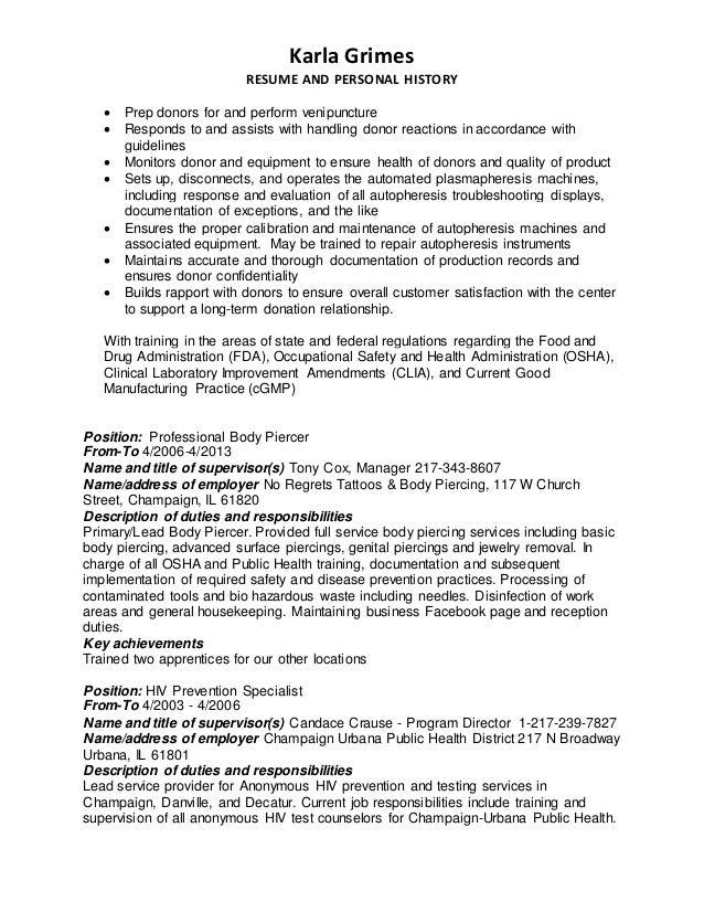 Karla Grimes Resume & cover letter