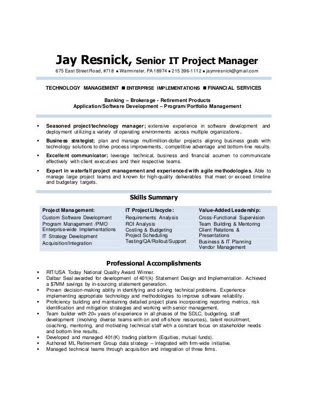 Jay Resnick1 - Resume