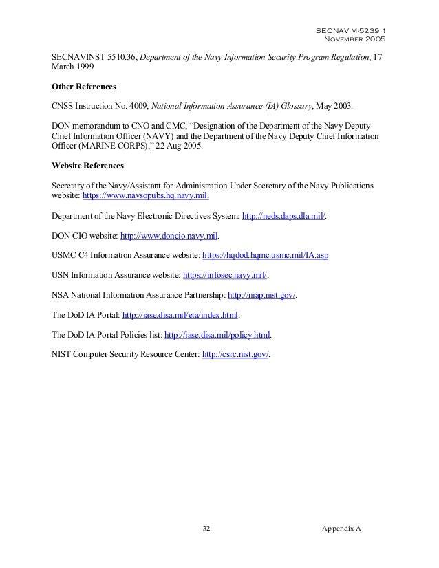 information assurance manual rh slideshare net navy security manual 5510 navy physical security manual