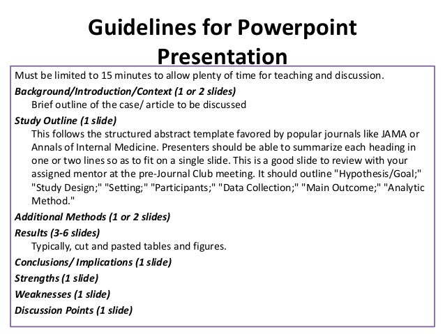 how to hold a journal club