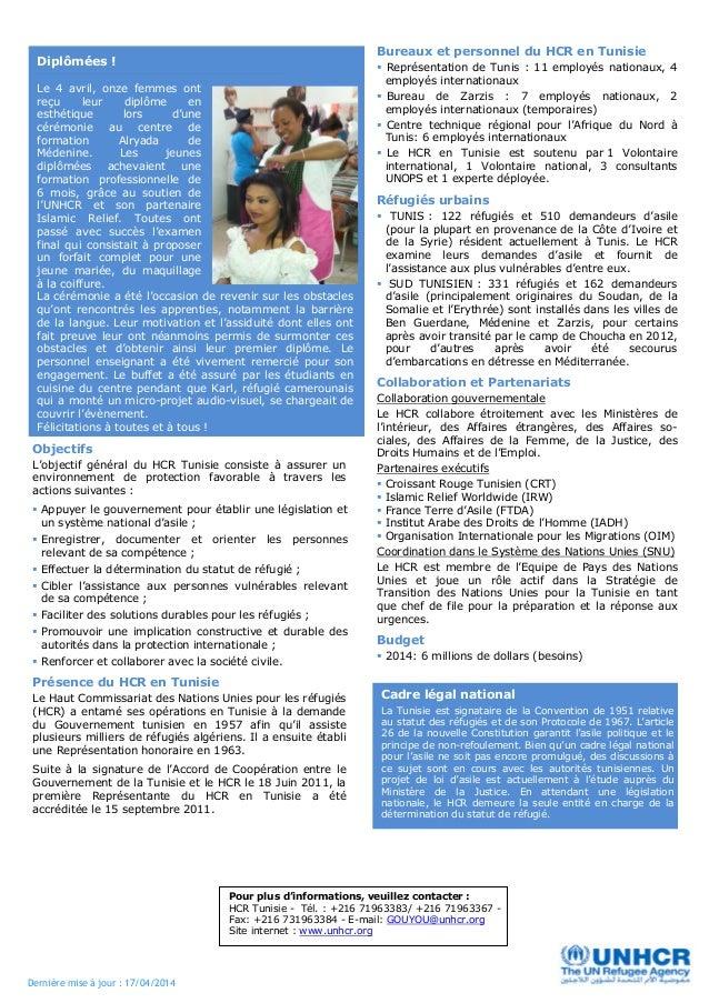 Bulletin d'information HCR TUNISIE Avril 2014 Slide 2