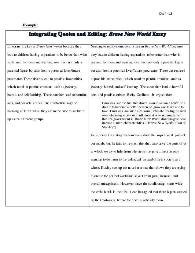 ChafinTeaching Portfolio Final – Integrating Quotes Worksheet