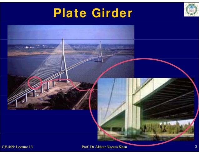 Plate GirderCE-409: Lecture 13       Prof. Dr Akhtar Naeem Khan   3
