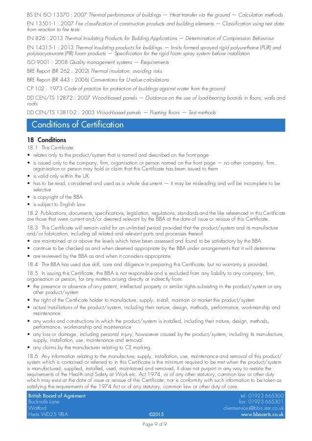 Certificado BBA - Aislamiento con productos Synthesia para
