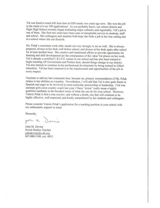 John D rec letter 2