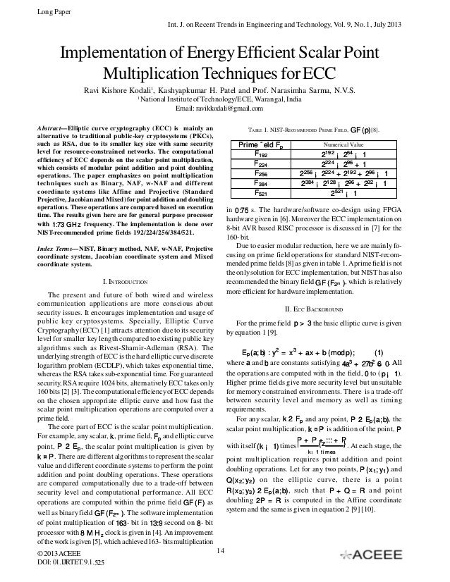 Long Paper Int. J. on Recent Trends in Engineering and Technology, Vol. 9, No. 1, July 2013  Implementation of Energy Effi...