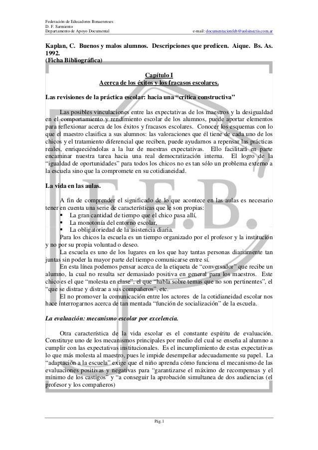 Federación de Educadores Bonaerenses D. F. Sarmiento Departamento de Apoyo Documental  e-mail: documentacionfeb@uolsinecti...