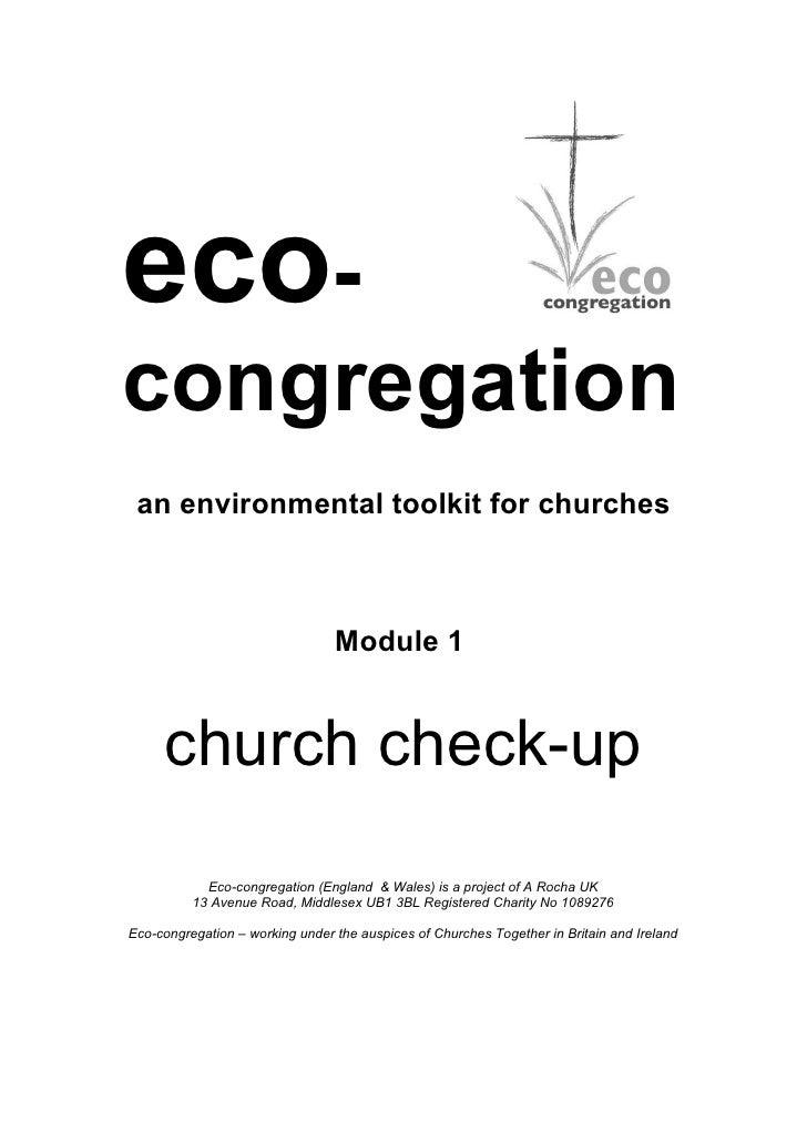 eco-congregation an environmental toolkit for churches                                 Module 1     church check-up       ...
