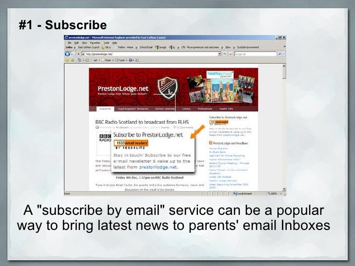 """A """"subscribe by email"""" service can be a popular way to bring latest news to parents' email Inboxes  #1 - Subscr..."""