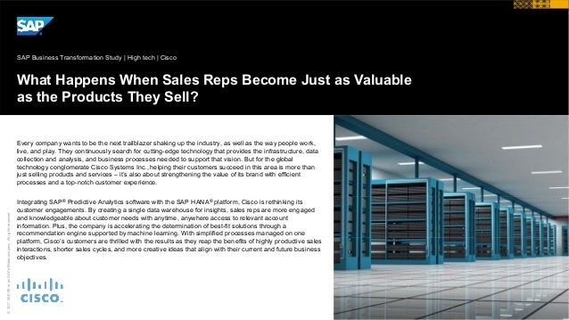 © 2017 SAP SE or an SAP affiliate company. All rights reserved. What Happens When Sales Reps Become Just as Valuable as th...