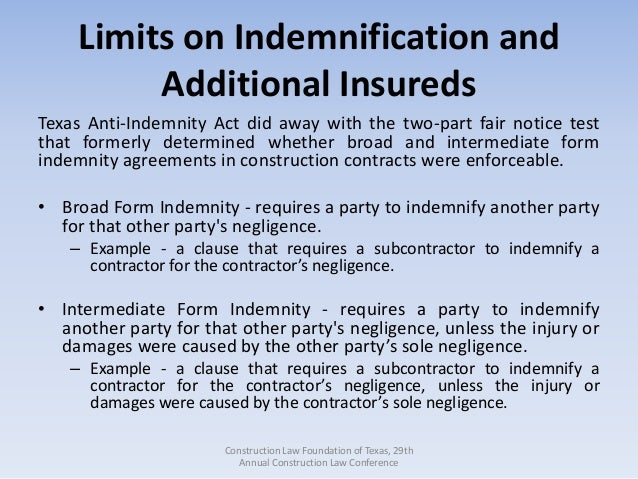 Contractor Indemnification Agreement Gallery - Agreement Letter Format