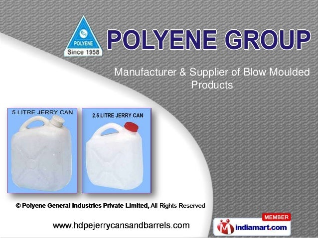 Manufacturer & Supplier of Blow MouldedProducts