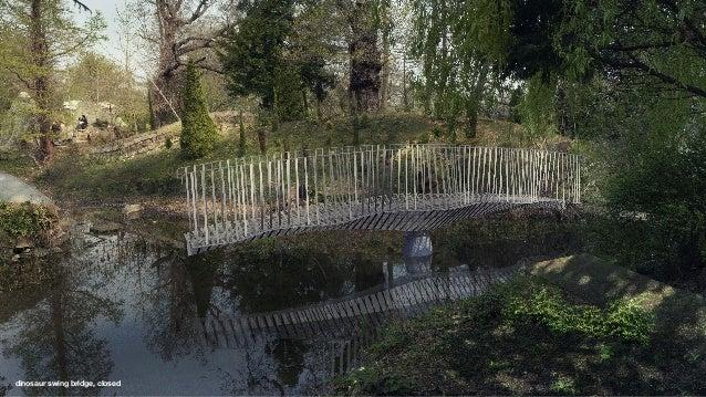 dinosaur swing bridge, open