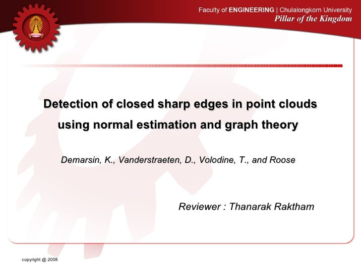 Detection of closed sharp edges in point clouds                using normal estimation and graph theory                   ...