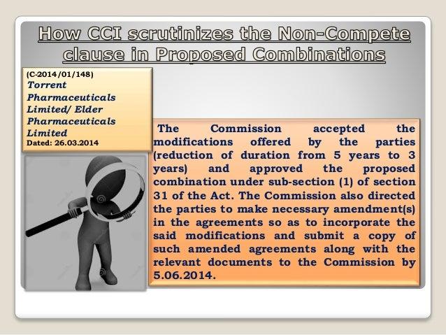non-compete agreement & CCI Scrutiny