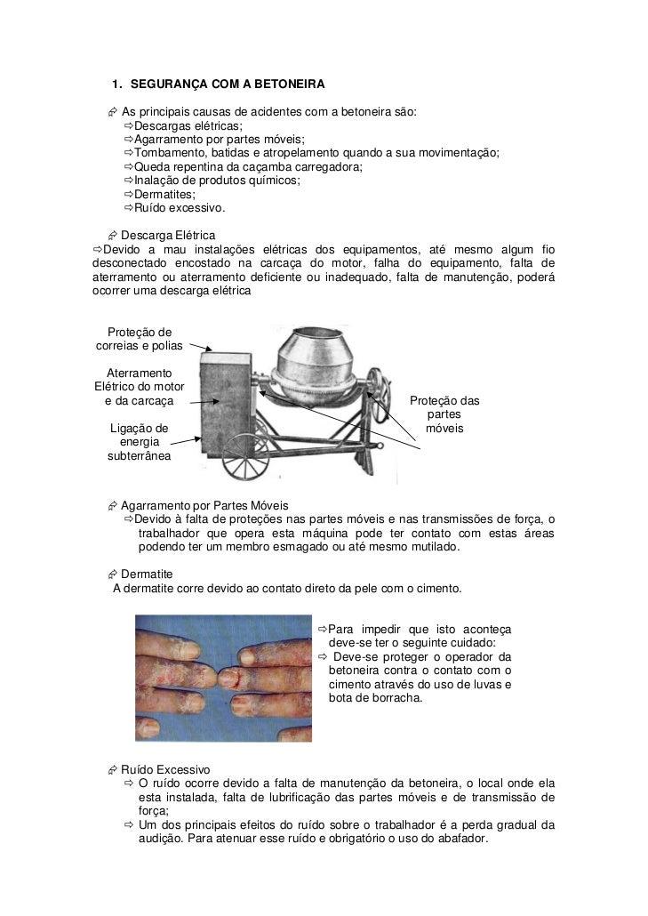 treinamento segurança uso da betoneira Slide 3