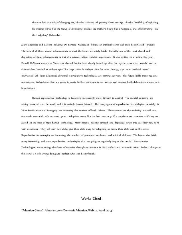 reproductive technologies essay