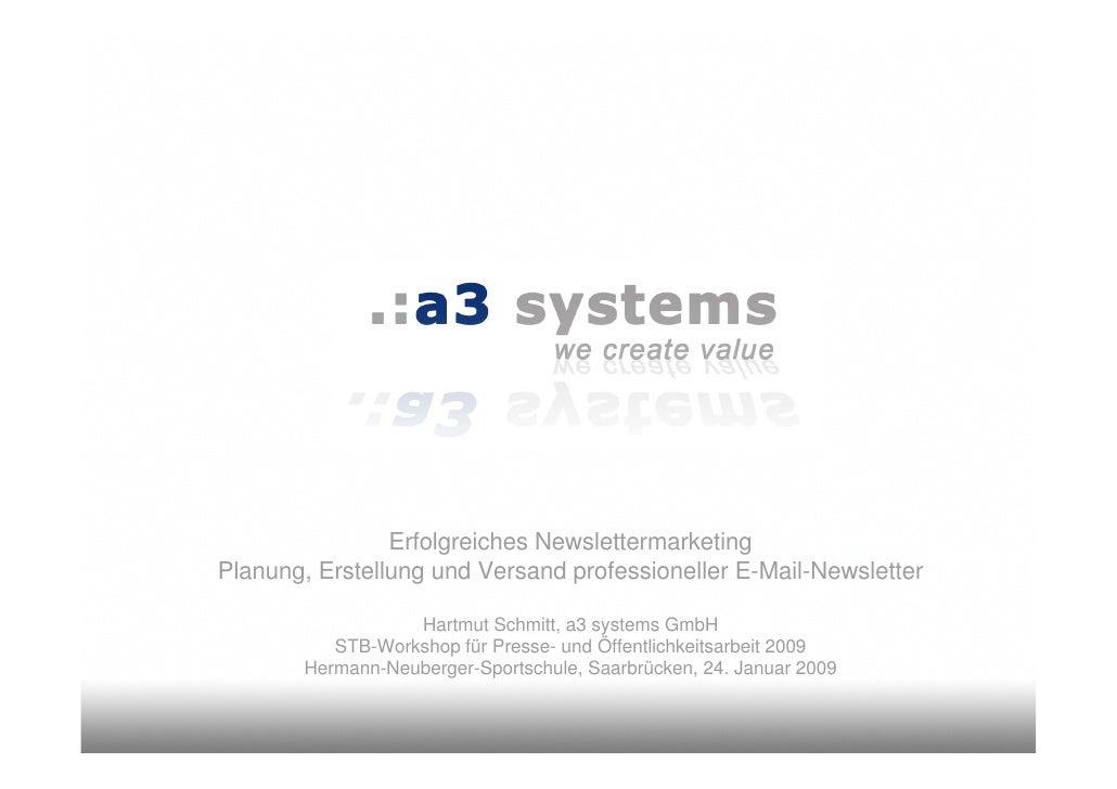 Erfolgreiches Newslettermarketing Planung, Erstellung und Versand professioneller E-Mail-Newsletter                    Har...