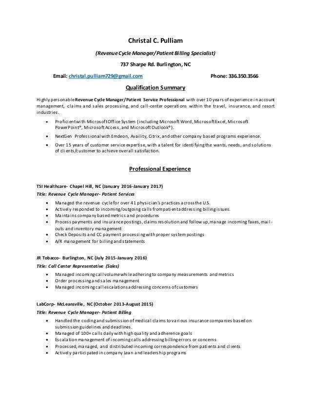 ms  pulliam resume 2017