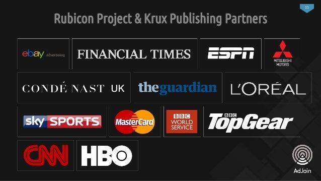 11 Rubicon Project & Krux Publishing Partners