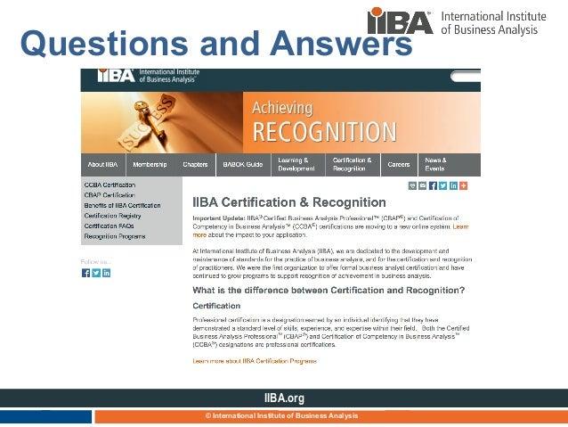 iiba certification understanding deck program november