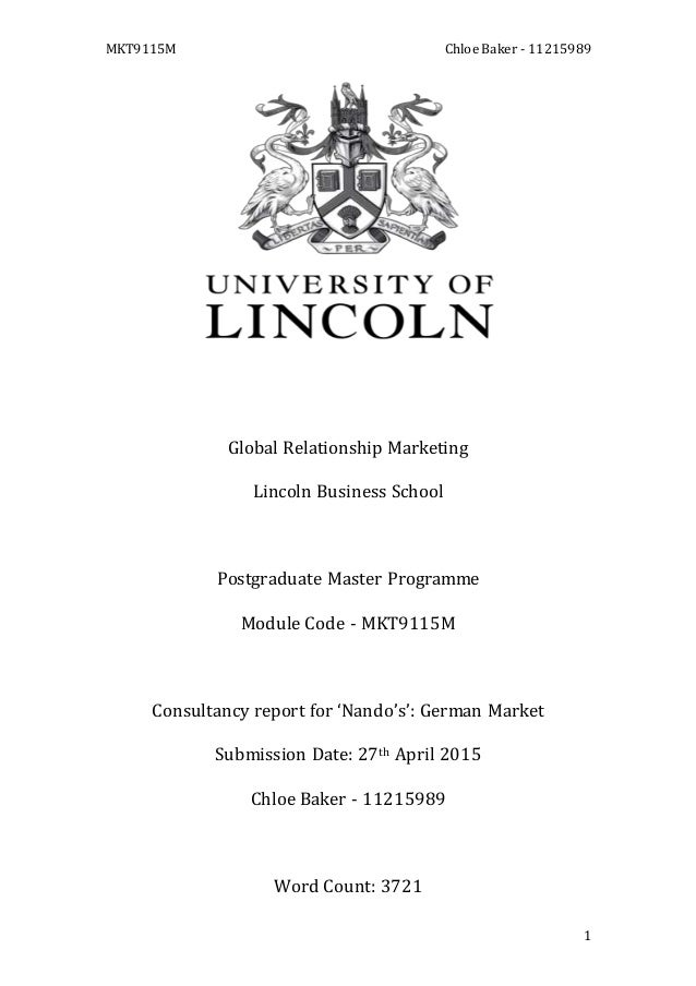 global relationship marketing essay mkt9115m chloe baker 11215989 1 global relationship marketing lincoln business school postgraduate master programme modu
