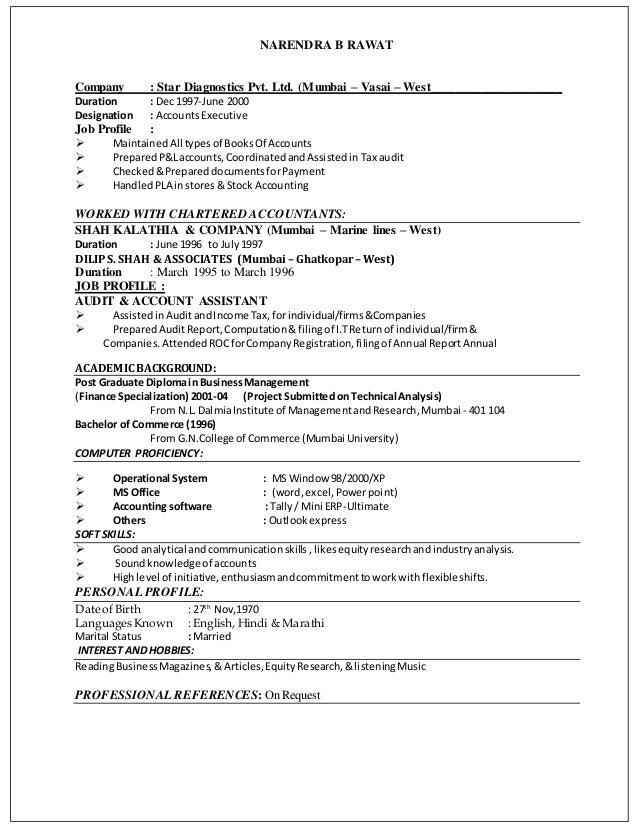 narendra rawat resume accountant linkedin