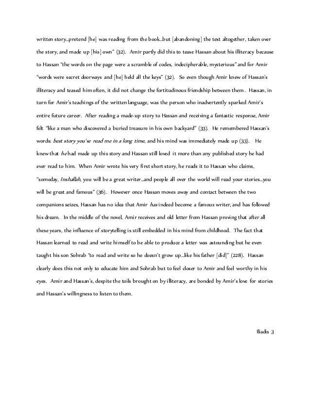 kite runner essay grade  2 written