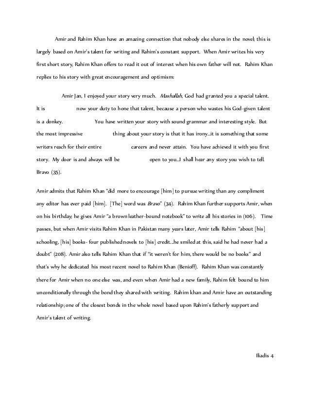 Kite Runner Essay  Underfontanacountryinncom Kite Runner Essay Grade