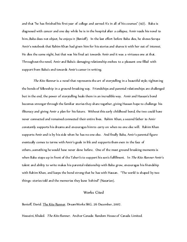 kite runner essay co kite runner essay