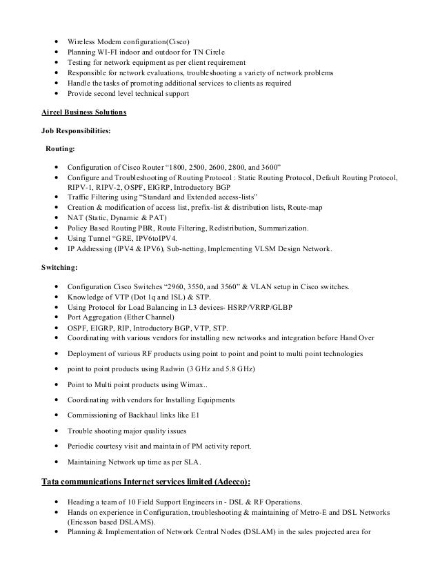 Resume Cover Letter For Network Engineer Cover Letter Templates SHAMSEER  POOVATHINKAL Email Shamseerp Gmail Com Skype