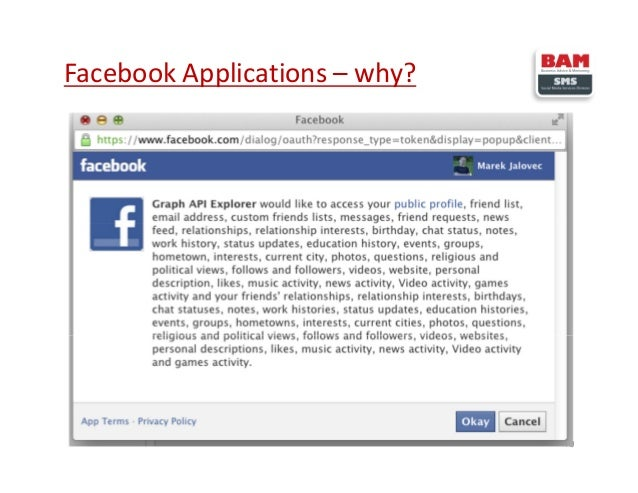 Facebook Applications – why? 10
