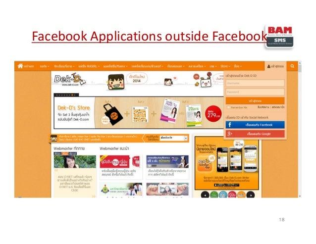 18 Facebook Applications outside Facebook