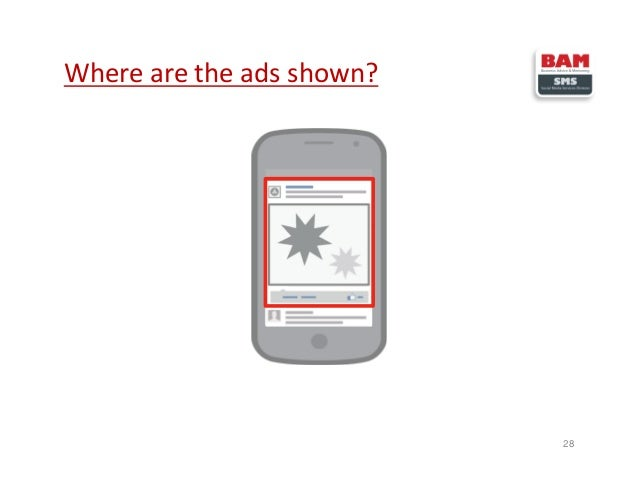 Where are the ads shown? 28