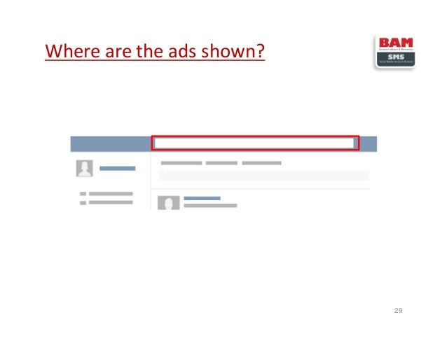 Where are the ads shown? 29