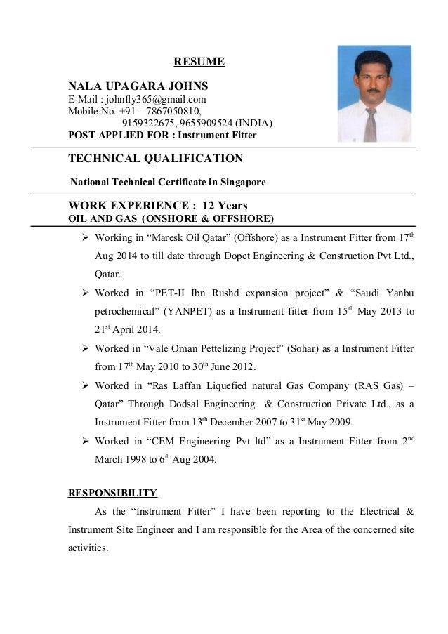 Fitter resume